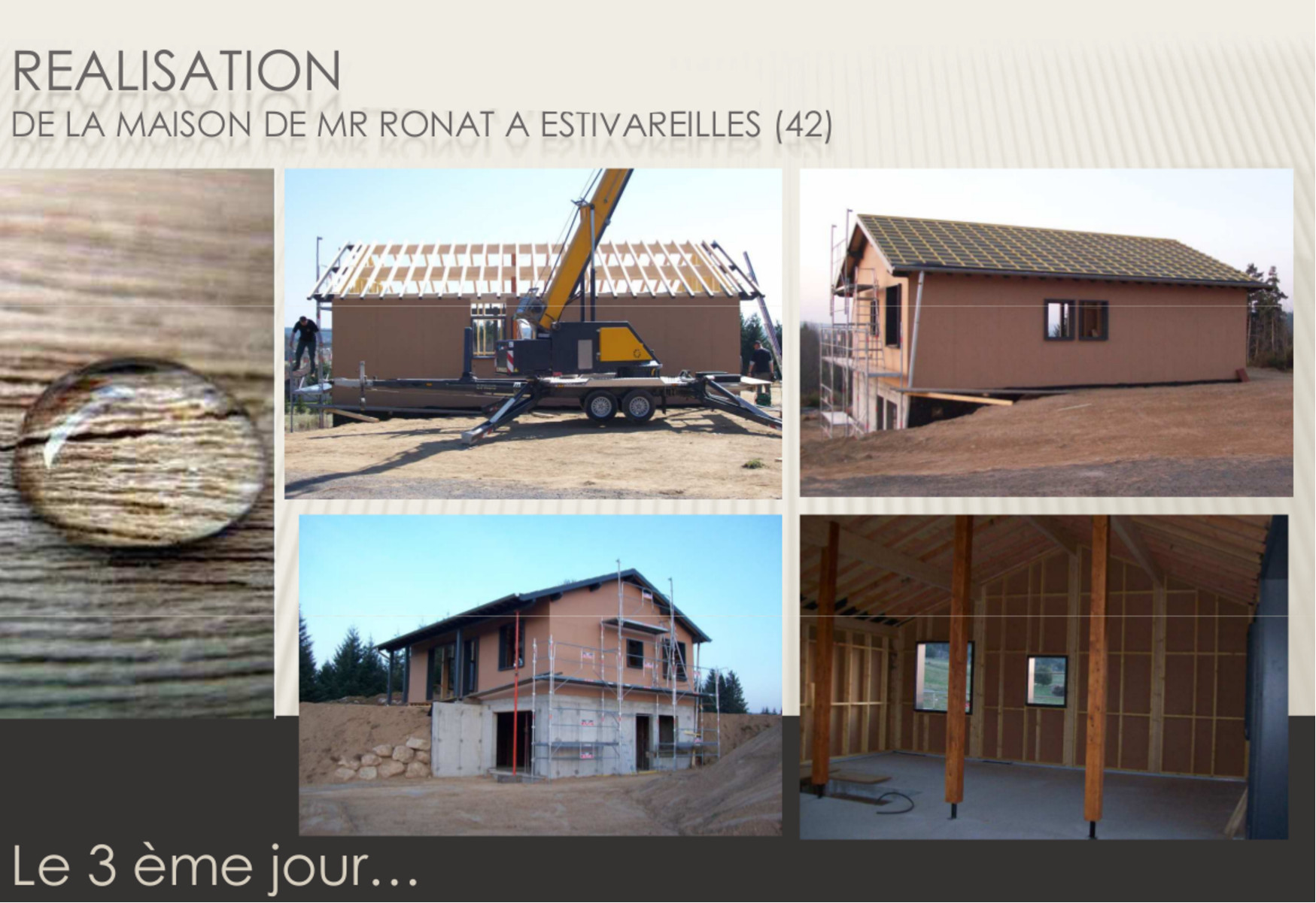 Maison ossature bois for Maison container loire 42