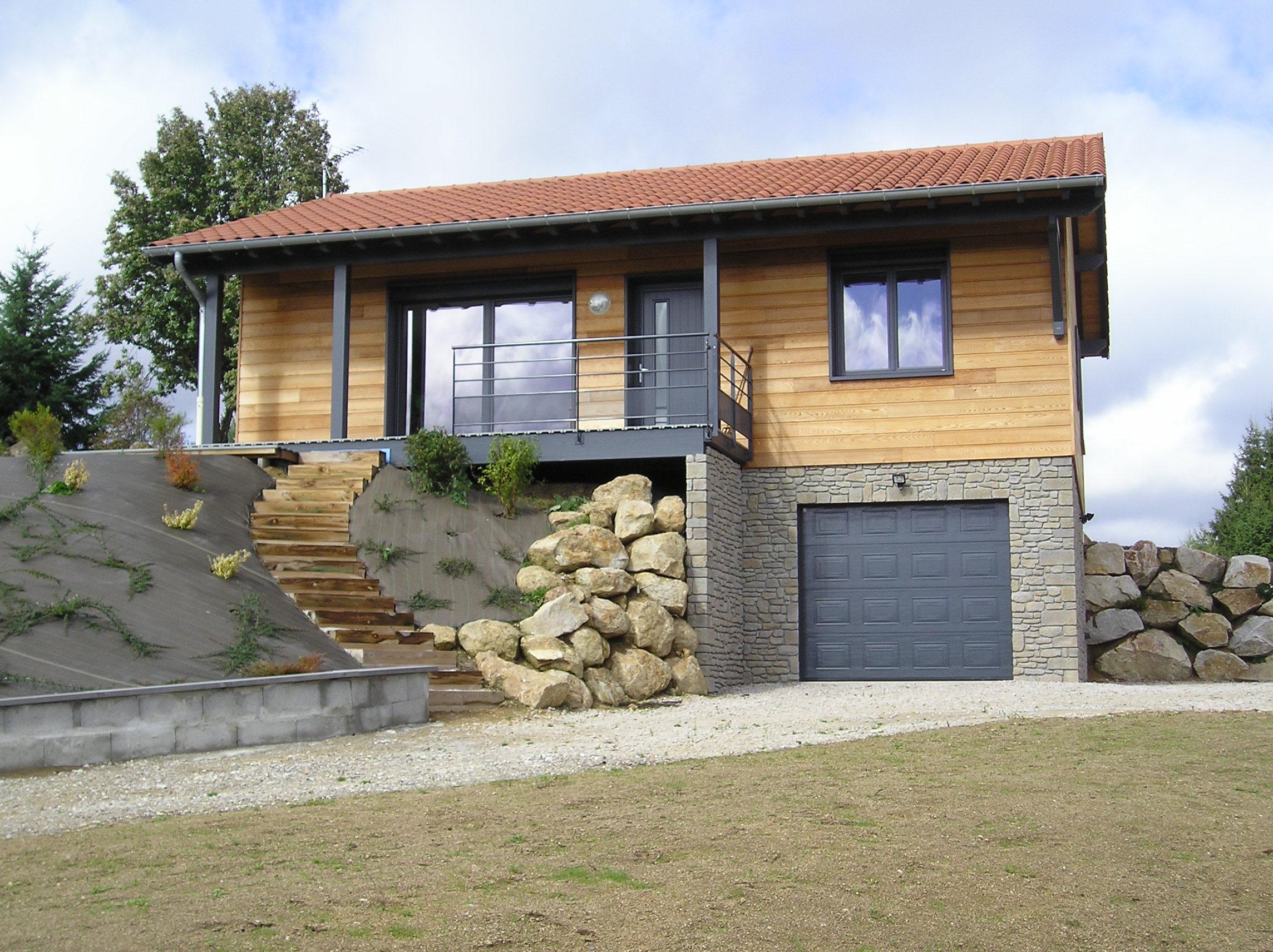 Maison ossature bois 42 loire estivareilles8 for Maison container loire 42