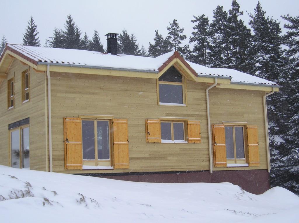 Maison ossature bois 42 loire estivareilles2 for Maison container loire 42