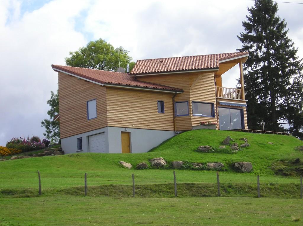 Maison ossature bois 42 loire usson3 for Maison container loire 42